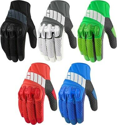 Icon Overlord Mesh Street Motorcycle Riding Gloves All Sizes All Colors