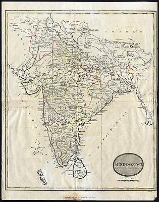Antique Map-HINDOOSTAN-HINDUSTAN-INDIA-SRI LANKA-CEYLON-Kearsley-1797