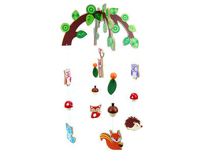 Kaper Kidz Wooden Colourful Forest Friends Animals Baby Mobile Nursery Decor!