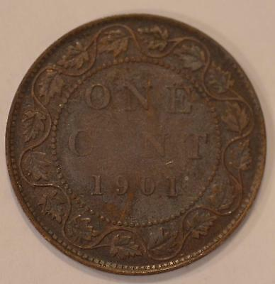 1901 VF Canadian Large Cent, #5