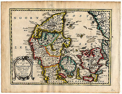 Antique Map-KINGDOM OF DENMARK-DUCHY OF SCHLESWIG-de Missy-de Leth-1749