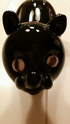 Black Cat Figurine...it S Cute With Marble-Like Eyes ..a Great Door Stop