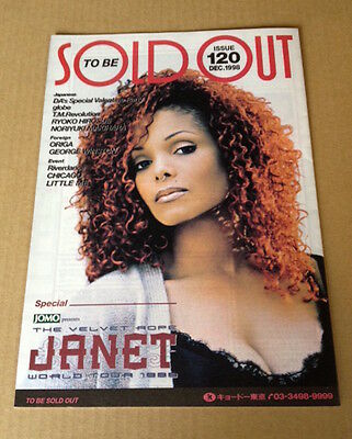 1998 Janet Jackson cover photo JAPAN To Be Sold Out promo magazine pamphlet RARE