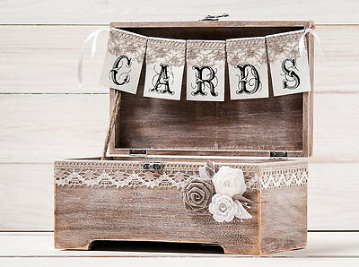 NEW Wedding Gift Card Box Chalkboard Burlap Lace Rustic – Box for Cards at Wedding Reception