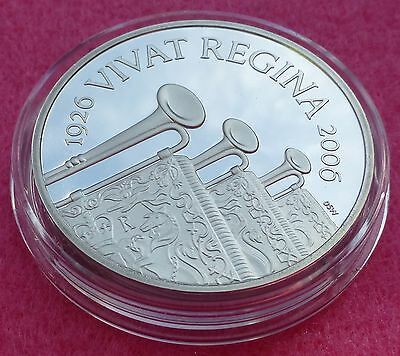 2006 PLATINUM H.M. THE QUEEN 80TH BIRTHDAY PROOF 3oz COIN BOX AND COA