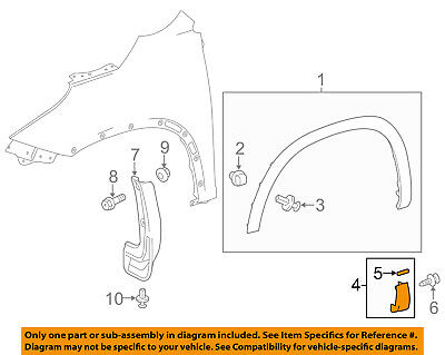 TOYOTA OEM 14-15 Highlander Fender-Molding Assy Right 756010E061B1