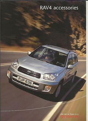 Toyota Rav4 Accessories Sales Brochure August 2001 For 2002 Model Year