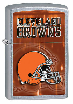 Zippo Street Chrome Lighter With Cleveland Browns Logo,  28588, New In Box