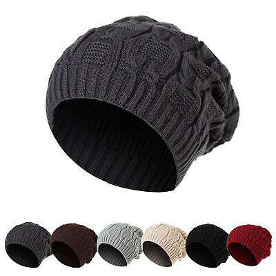 Men Women Ladies Knitted Winter Oversized Slouch Beanie Hat Cap skateboard