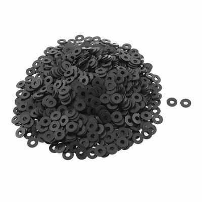 Black Insulation Spacer Nylon Flat Washers Gasket 10mm x 4mm x 1mm 1000pcs