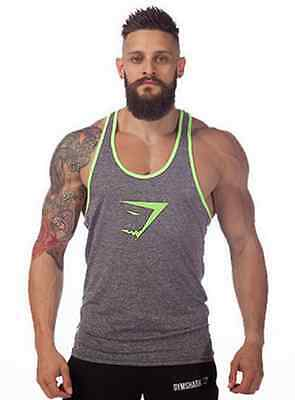 Gym Men's Stringer Tank Top Bodybuilding  Fitness Singlets  Muscle Shirt