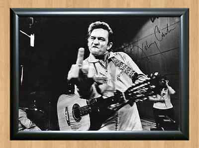 JOHNNY CASH American IV: The Man Comes Around Signed Autographed A4 Print Poster