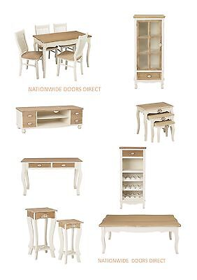 Shabby Chic Living & Dining Room Furniture - Sideboard Media Units Tables Chairs