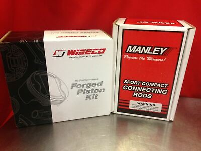 Manley H-Beam Rods 14008-4 Wiseco Pistons K615M865 Toyota 3SGTE MR2 and All Trac