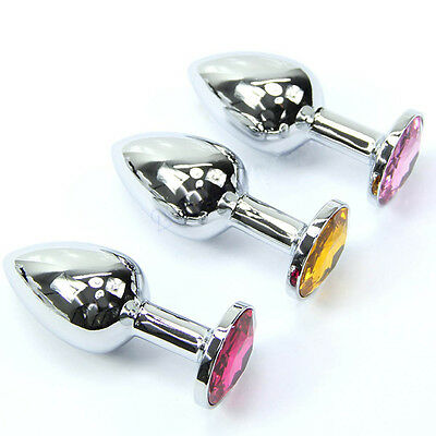 Butt Plug-Anal - Chromed - Metal Plated - Jeweled - FREE SHIPPING