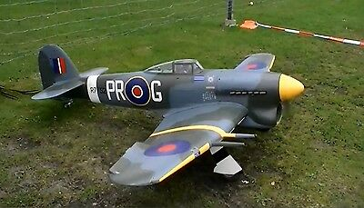 """Giant 1/5 Scale HAWKER TYPHOON scratch build Rc Plane Plans & Templates 97""""WS"""