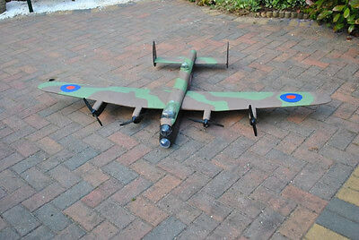 Large Scale Avro LANCASTER scratch build R/c Plane Plans 74 in. wing span