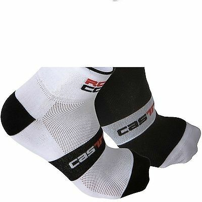 Castelli cycling socks.2 pairs new with tags. size L - XL (8 to 12). Rosso-Corsa