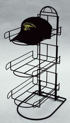 Two AYS Retail 3 Pocket Counter Sport Cap Product Display Rack (Black)
