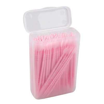 150pcs 2 way Oral Dental Picks Tooth Pick Interdental Brush with Portable Case