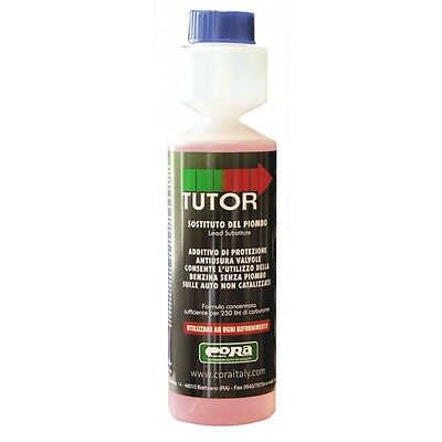 TUTOR ADDITIVO SOSTITUTIVO DEL PIOMBO 250ml. DOSE PER 250LITRI DI CARBURANTE