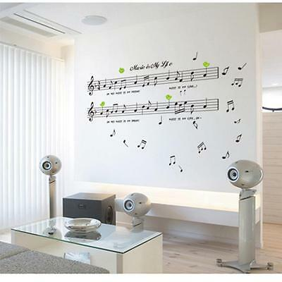 Music Staff Removable Wall Decal Stickers Kids Room Home Decor Mural Vinyl Art