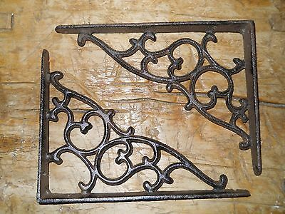 36 Cast Iron Antique Style SM Leave & Vine Brackets Garden Braces Shelf Bracket