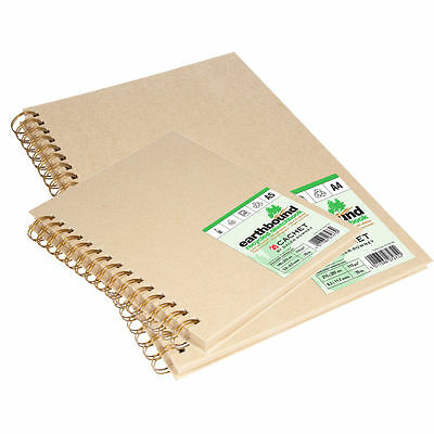 Daler Rowney Earthbound Recycled Paper Sketchbook - A4 Wirebound