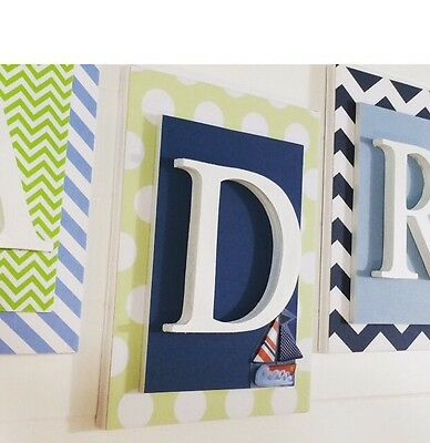 Nautical Nursery, Boys Wall Letters, Nautical Wall Art, Boys Bedroom Letters