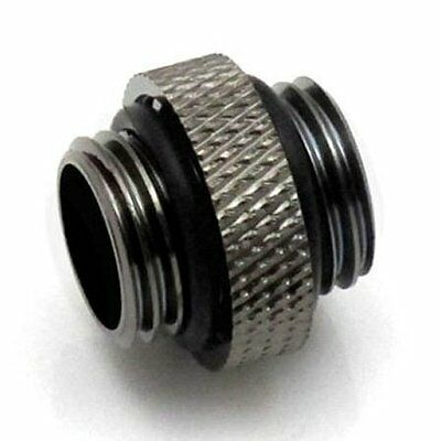 """XSPC G1/4"""" 5mm Male to Male Fitting Black Chrome"""