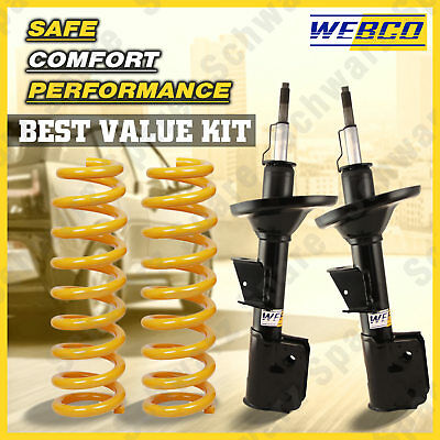 Front strut assembly shock absorbers & KING Coil Springs for CREWMAN VZ 2WD