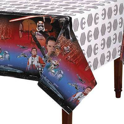 """Star Wars The Force Awakens Birthday Party Plastic Table Cover 54"""" x 84 Supplies"""