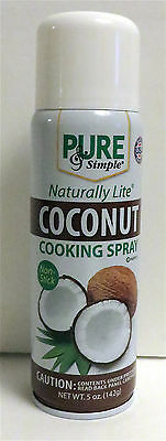 Pure & Simple Naturally Lite Coconut Cooking Spray 5 oz.