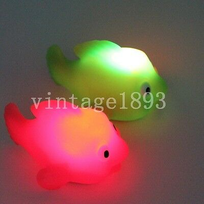 Colorful GOLDFISH Small Soft Rubber Floating Gold Fish Toy Kids Toys Bath Gift