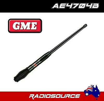 GME AE4704B UHFCB Colinear Antenna + Heavy Duty Barrel Spring Black 2.1dBi