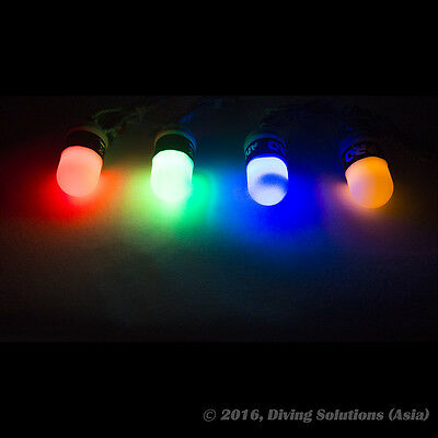 Scuba Diving Night Dive Safety Tank Light LED, 100m Green Red Blue Yellow Color