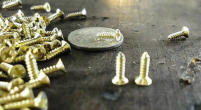 Boxes and Cases - Small M2x8mm Philips Head Self Tapping Gold Wood Screws
