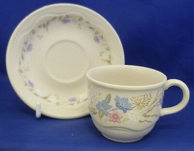 A Poole 'springtime' Coffee Cup And Saucer