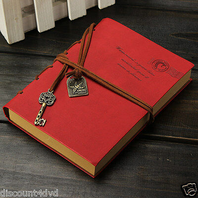 Retro Vintage Blank Pu Leather Cover  Diary Journal  Notepad String Travel Gift