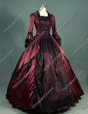 Renaissance Marie Antoinette Vampire Dress Steampunk Adult Halloween Costume 142