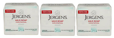 9 Count Jergens Mild Soap Pure & Natural Fresh Cleansing Body Bar 3 Oz Each