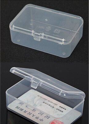 New Small Transparent Plastic Storage Box clear Square Multipurpose display CAMG