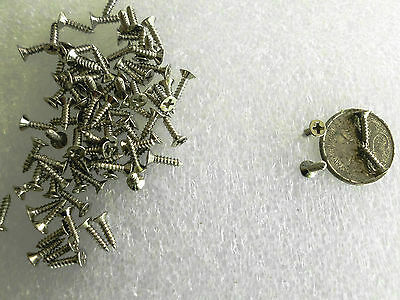 Boxes and Cases - Small M2x8mm Philips Head Self Tapping Silver Wood Screws