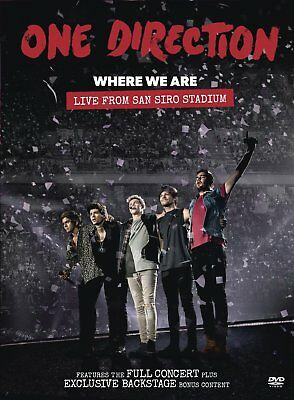 One Direction 1D Where We Are Live San Siro Dvd Brand New Region 2