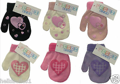 Pesci Heart Design Winter Mittens One Size