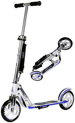Hudora Big Wheel RX WB 205 Racing weis/blau Cityscooter Scooter Roller 14725