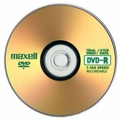 10 Maxell DVD-R DVDS 1-16x 4.7GB/120min Disc Discs in Sleeves Blank Media Access