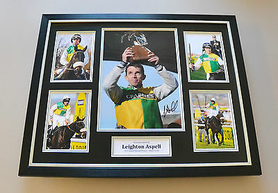 Leighton Aspell Signed Photo Large Framed Grand National Autograph Display + COA