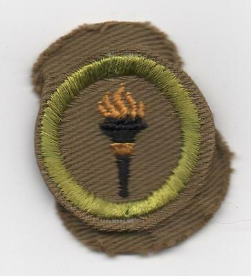 Public Health Merit Badge, Type C Tan Narrow Crimped (1938-46), Mint!
