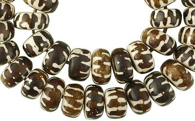 Large HANDMADE AFRICAN batik bone TRADE BEADS Kenya